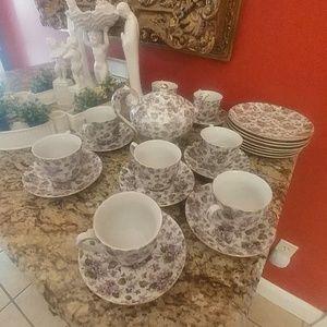A Special Place Tea Set Purple Florals